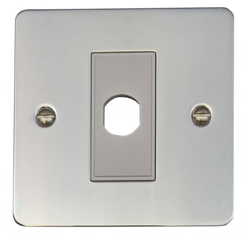G&H FC79W Flat Plate Polished Chrome 1 Gang Flex Outlet Plate